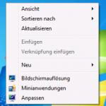 Desktop Rechte Maus Taste