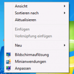 Desktop Kontextmenü