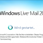 Windows Live Mail wird vorbereitet